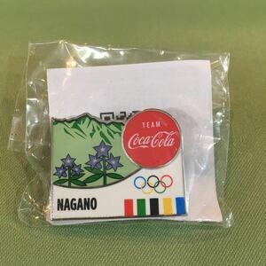 【長野県】東京オリンピック TOKYO 2020 ピンバッジ ピンズ 非売品 コカコーラ 聖火リレー ノベルテ五輪 コカ・コーラ 長野 NAGANO