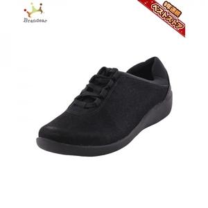 クラークス Clarks スニーカー 23.5cm 4 1/2(23.5cm ) ブラック系 レディース 美品 靴