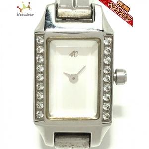 4℃(ヨンドシー) 腕時計 - レディース ラインストーン 白