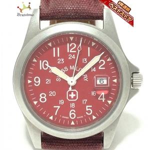SWISS MILITARY(スイスミリタリー) 腕時計 - 3304 レディース ボルドー