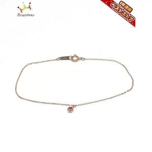 カナルヨンドシー canal4℃ ブレスレット - K10PG×カラーストーン ピンク 美品 アクセサリー(腕)