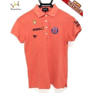 パーリーゲイツ PEARLY GATES 半袖ポロシャツ サイズ0 XS - オレンジ レディース 刺繍 トップス