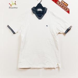 バーバリーズ Burberry's 半袖ポロシャツ - 白×ダークグレー メンズ チェック柄 トップス
