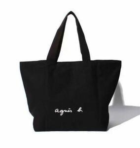 agnes b. アニエスベー ロゴ トートバッグ Lサイズ ブラック