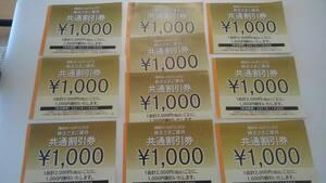 おまけ有☆西武ホールディングス株主優待共通割引券1000円x10枚プリンスホテルやレストラン、ゴルフ場、シーパラダイスなど♪11月末日まで