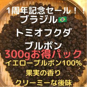自家焙煎 ブラジル トミオフクダ ブルボン300g 豆又は粉