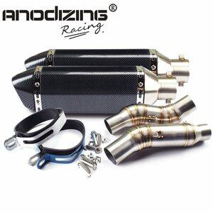 Z1000ー スリップオンマフラー ステンレス/ステンレス ANODIZING RACING Z1000 スリップオン ヘキサゴン マフラー A