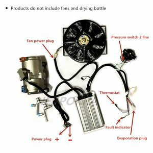 電気空調コンプレッサー 12v 24v、任意の車両に適用電動コンプレッサ 12v 24v 48v 60v 72v 96v