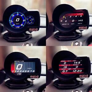 マジシャン OBD2 F835 ヘッドアップディスプレイ車デジタル ブーストゲージ電圧スピードメーター水温警報オイル自動