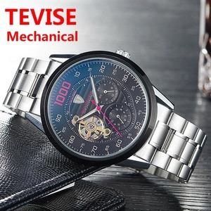 メンズ腕時計 TEVISE 自動巻き トゥールビヨン 機械式 スケルトン 防水 男性 時計 ウォッチ