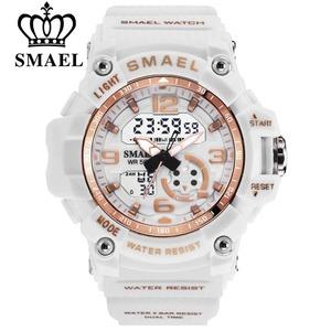 腕時計 スポーツ 時計 防水 レディース 学生 多機能 LED デジタル クオーツ SMAEL ファッション 女性