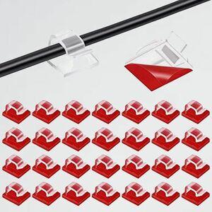 未使用 新品 50個入り ケ-ブルクリップ S-J3 by MAVEEK コ-ドクリップ ケ-ブルホルダ- コ-ドフック 配線 収納 接着ワイヤ-コ-ド