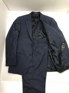 【新品未使用】 EMPORIO ARMANI エンポリオアルマーニ「G LINE」 高級スーツ 紺色 ストライプ 50(Lサイズ程度) ビジネス