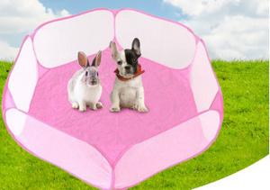 新品犬・ネコ・小動物の運動に サークルゲージ 防水加工 ウサギ・ハムスターにも ピンク・ブルーからお選びくださいYEUT