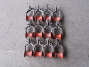 安田製作所 2号金車 プラスティック軽量型 (赤) 12個