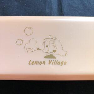 新品未使用 昭和レトロ 80年代 学研 Lemon village レモンビレッジ プラペンケース 筆箱 筆入れ ピンク ファンシー