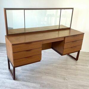 アンティーク 家具 ドレッシングテーブル 1960年頃 チーク材 イギリス 英国 ドレッサー 北欧家具 ビンテージ家具/ 収納 店舗什器 889A