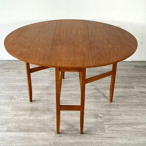 アンティーク家具 ゲートレッグテーブル ビンテージ家具 1960年頃 チーク材 北欧 イギリス 英国 サイドテーブル/ 輸入家具 店舗什器 904A