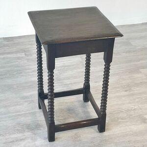 アンティーク 家具 ランプテーブル ボビンレッグ オーク材 イギリス 英国 サイドテーブル ビンテージ家具/ 輸入家具 店舗什器 911A
