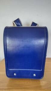 中古ランドセル 青色 トップバリュ TOPVALU クラリーノ 日本製 ブルー 中古品 USED