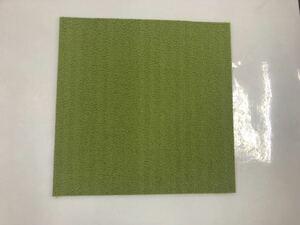 新品または未使用品の高級なタイルカーペット(日本製) きみどり無地 50cm×50cm 120枚       DK9-15