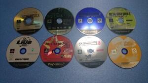 PS2ソフト8枚 MGS 2、3 / FF X / ENTER THE MATRIX / 実況パワフルプロ野球8決定版 / 他