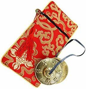 【激安】(エイベクト) ティンシャ チベットベル ケース付き 風水 瞑想 仏教 打楽器 ヨガ ヒーリング 癒し
