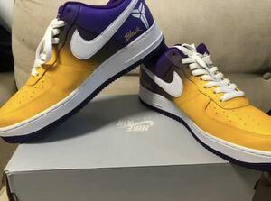 NIKE air force1 custom Lakers Kobebryant24