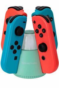 Joy-Con充電スタンド ジョイコン 充電 Nintendo Switch用 2in1機能 4台同時に充電可能 夜電灯機能