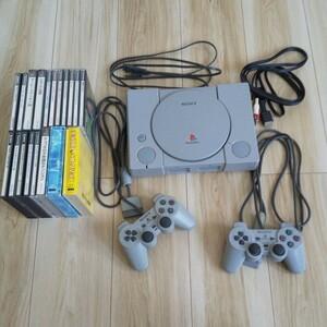 初代プレイステーション SONY SCPH-7000 ゲームソフト16本、メモリーカード5個付き