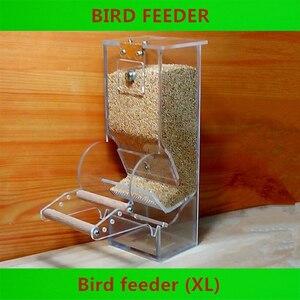 ◆1円スタート◆鳥用 エサ入れ 容器 餌入れ 自動 フィーダー 透明 オウム インコ 文鳥 小鳥 クリア 保存容器 AT11293