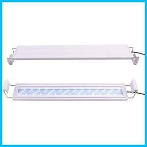 水槽ライト38CM HOPOPOWER 水槽LEDライト 水槽照明 アクアリウムライト 10W 38-50CM水槽対応 2色LED 56個ビーズ(7青+49白)110V