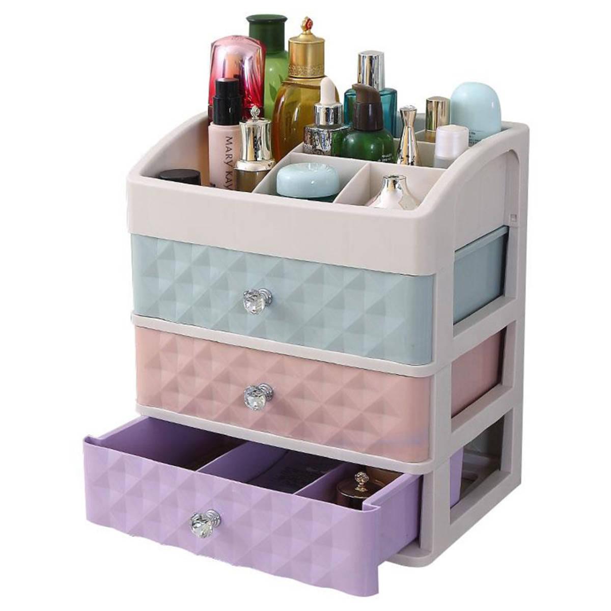 コスメボックス メイクボックス 化粧 収納ケース スタンド化粧品入れ 机上収納