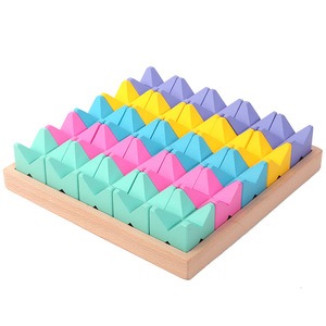 木製 パズル ビルディング 積木 ブロック 教育 知育玩具 モンテッソーリ