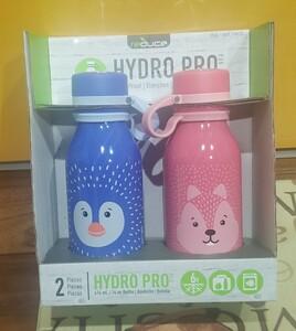 HYDRO PRO REDUCE 冷却ドリンク ボトル 2本セット ステンレス 携帯用魔法瓶 保冷専用 用量0.41L