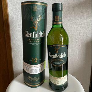 未開封グレンフィディック12年 スコッチウイスキー Glenfiddich ケース付き。 シングルモルト