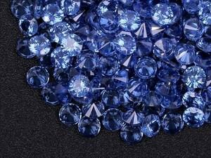 ■ブルーカラー キュービックジルコニア ルース 5mm おまとめて大量約200個セット 人工ダイヤモンド ラウンドブリリアントカット Nw72-