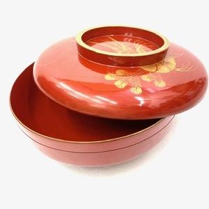 漆器 蓋つき碗 海老柄 お椀 丼 和食器 どんぶり鉢 丼物 天丼 かつ丼 祝い膳にも