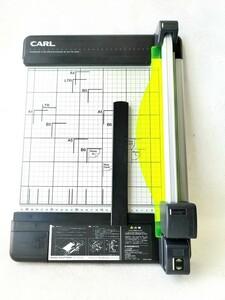 CARL 裁断機 DC-210N ペーパーカッター スライド式 ディスクカッター A4対応 40枚裁断 ガイド表記 安全設計