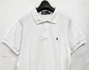 送料無料 POLO RALPH LAUREN ポロ ラルフローレン ポニー刺繍 半袖ポロシャツ 白 M 鹿の子