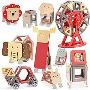 【セール】 109 AOMIKS マグネットブロック 森の動物 積み木 磁気おもちゃ マグネットおもちゃ 磁石ブロック 子供 知育玩具 モ