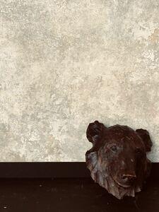 熊 木彫り アンティーク 骨董 ブロカント アイヌ 店舗什器 ディスプレイ