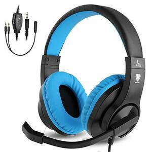 ブルー BlueFire PS4ゲーミング ヘッドセット 高音質 重低音ヘッドフォン 臨場感満ち 高集音性マイク付 SONY P