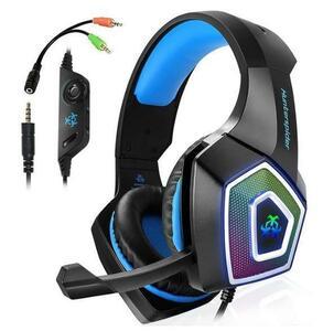 ◇特価0 ゲーミングヘッドセット マイク 高音質 ノイズ除去 ボイスチャット オンライン PC/ゲーム 快適フィット ブラック
