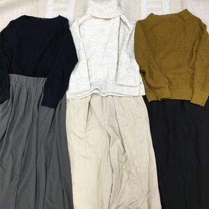 O-11 1013 秋 冬服 40枚セット レディース トップス ボトムス アウター ワンピース 福袋 まとめ売り まとめて 大量洋服 業販 サイズ色々