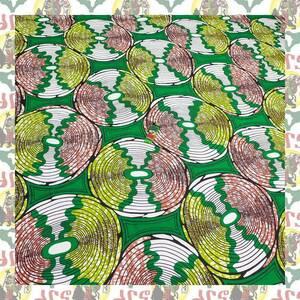 【SALE】アフリカンプリント生地 布 180cmx110cm(2ヤード) アフリカ布 アフリカ生地 アフリカ バティック ハンドメイド素材 barg-f21