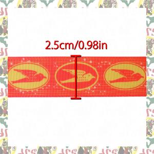 【drs】グログラン リボン テープ Grosgrain ribbon 燕 巾 25mm x 3m ハンドメイド 素材 アフリカ布 アフリカ生地