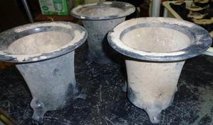 鉢 種まきポット 陶器 3個セット☆ アンティーク 昭和レトロ