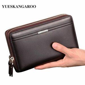 セカンドバッグ メンズ LEINASEN 高級海外ブランド レザー ヴィンテージ 選べる2色 小銭入れ クラッチ 財布