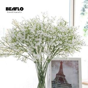 かすみ草の花束 ブーケ 1ピース 人工 造花 花 カスミソウ シリコーン 植物 結婚式 インテリア ホテルのパーティー
